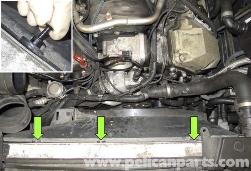 bmw  engine fan removal  bmw  engine