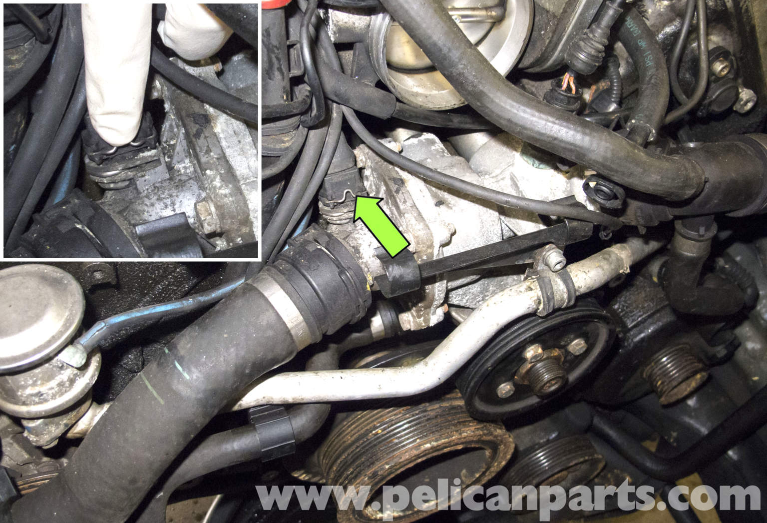 oil pump location 2001 bmw 525i  oil  free engine image