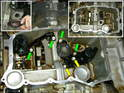 Shown here are the lower sump air-oil separators, which help to de-foam the oil in the bottom of the sump.