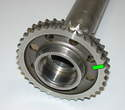 Here's a photo of the intermediate shaft showing the center bore where the bearing sits.
