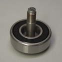 This photo shows the new bearing with the improved center bolt pressed into the inner race.
