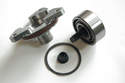 This photo shows the LN Engeering IMS retrofit kit with a dual row bearing.