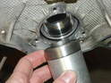 With the bearing inserted into the installation tool, place it in the intermediate shaft bore.