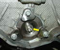 Install the spacer onto the bearing flange.