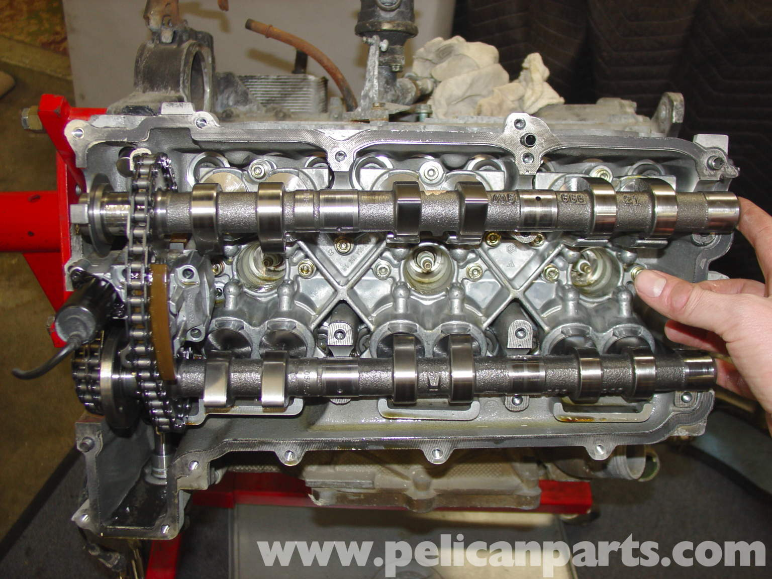 RepairGuideContent also 1986 Toyota 22re Engine Diagram moreover Toyota 22r 4 Cylinder Wiring Diagram additionally 93 Toyota 22r Engine Timing Schematic also Replacement Engine Lifters. on timing chain toyota 22r engine parts diagram