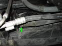 (R50 Cooper) On R50 MINI Coopers, the hose connection is straight rather then pointed upwards like on the R53 cars.