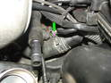 Show here is the upper hose where it attaches to the thermostat housing.