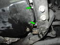 In order to remove the pan from the transmission, you'll need to lower the subframe 10-15mm.