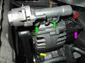(R55/R56/R57 Cooper and Cooper S): Shown here is the alternator in a R56 Mini Cooper.