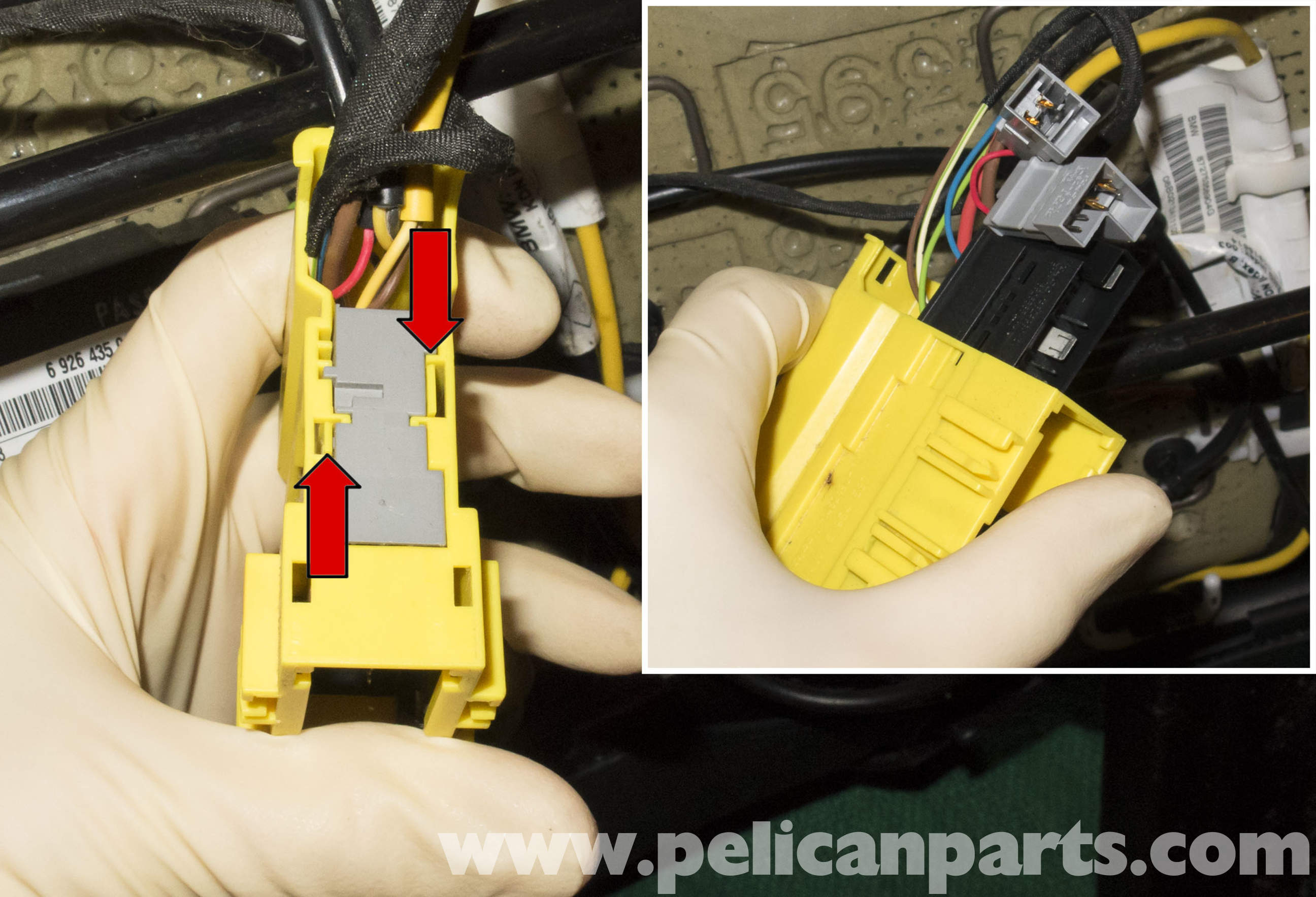 mini cooper r56 front seat belt buckle replacement  2007