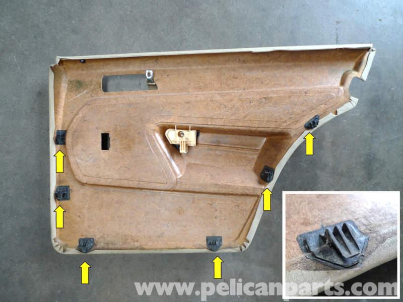 Mercedes Benz 190e Rear Door Panel Removal W201 1987