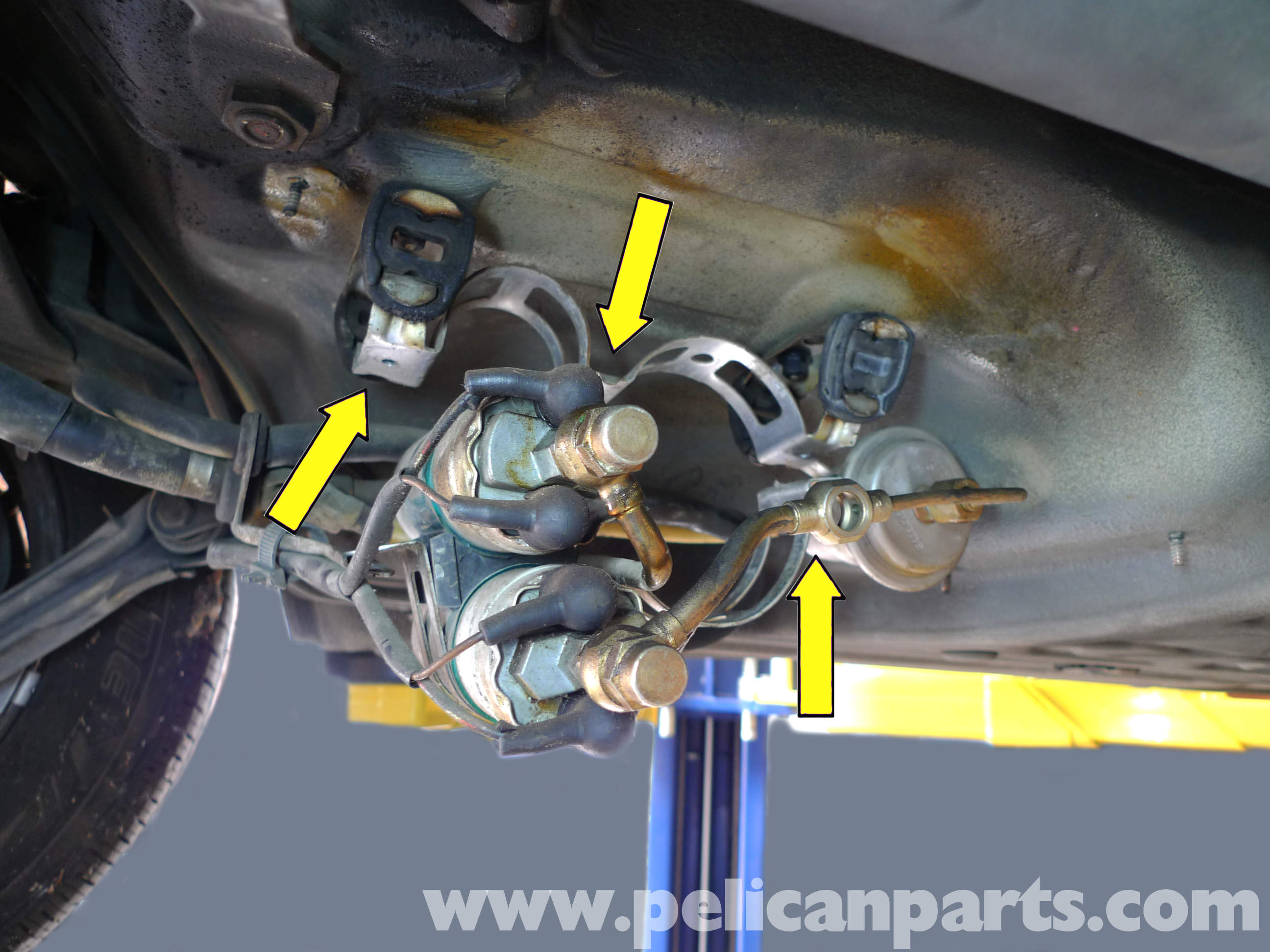 Mercedes benz 190e fuel filter replacement w201 1987 1993 pelican parts diy maintenance article