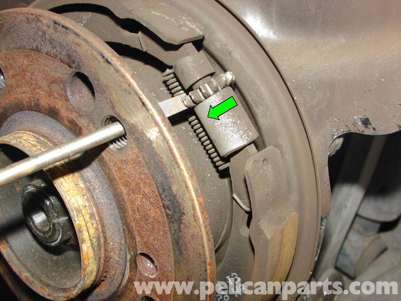 Mercedes benz 190e parking brake adjustment w201 1987 for Mercedes benz c300 brake rotors