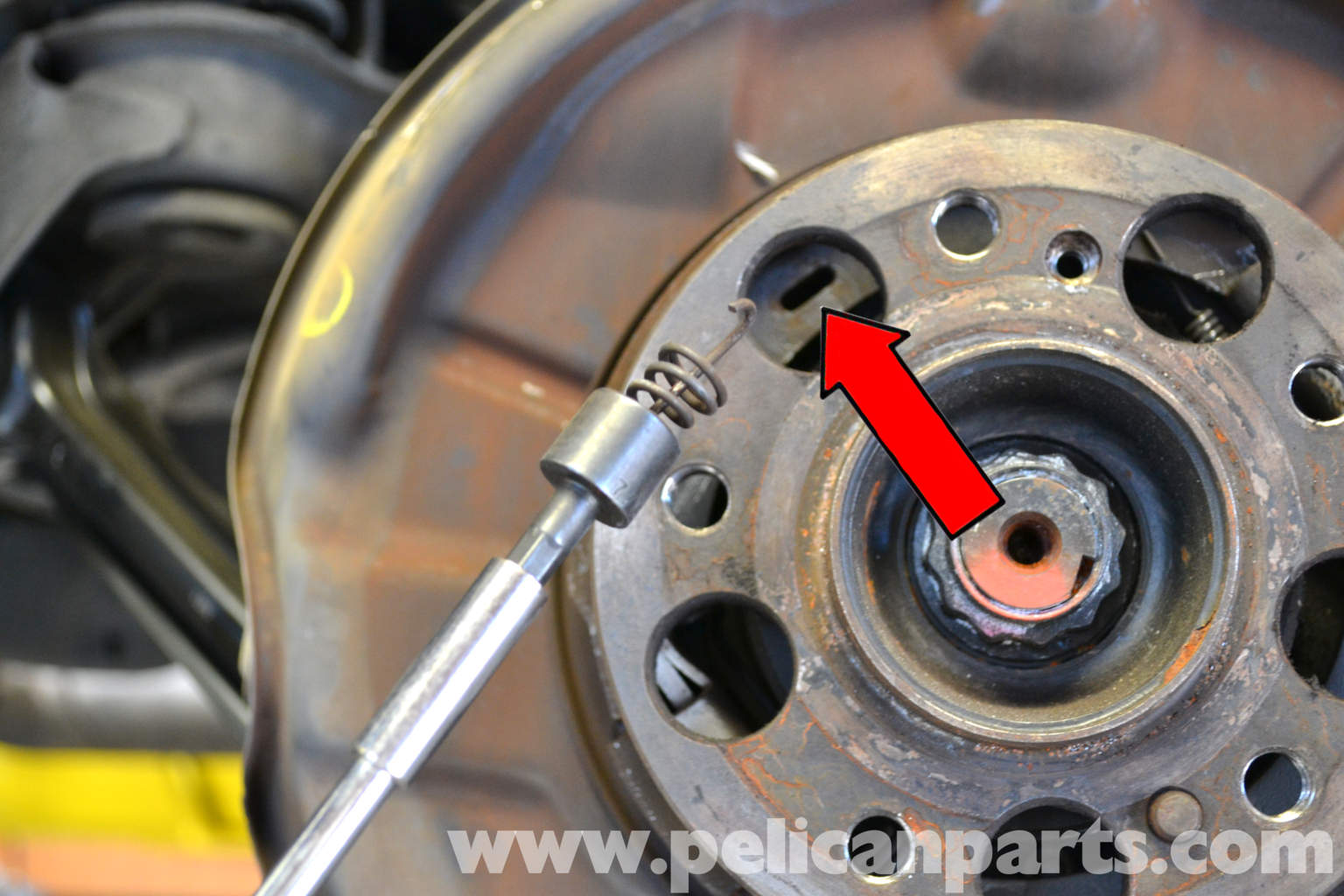 Mercedes benz 190e parking brake pad replacement w201 for Mercedes benz rotors and pads