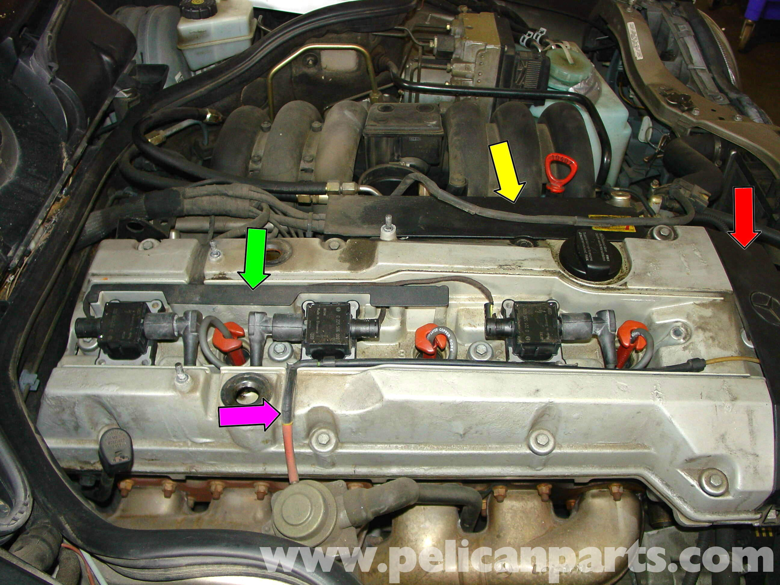mercedes w210 fixing common vacuum leaks 1996 03 e320 e420 pelican parts diy