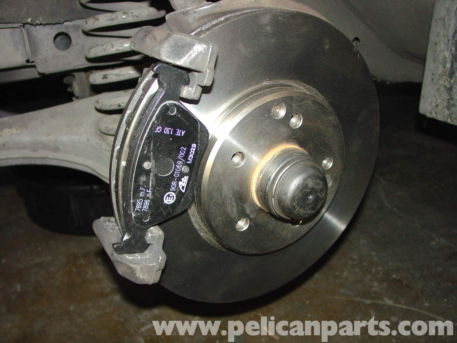 How to change front brake pads on 2006 mercedes c230 for Mercedes benz rotors and pads