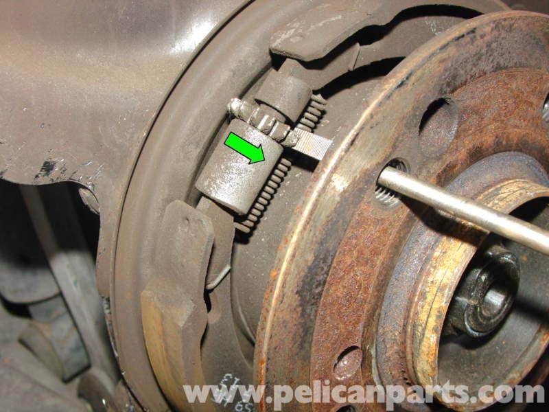 Mercedes Benz W210 Rear Brake Pad Disc Replacement 1996