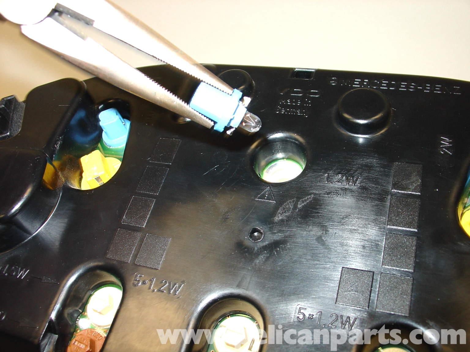 replacing instrument panel light bulbs