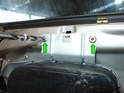 Here are the two top rivets holding the airbag to the door (green arrows).