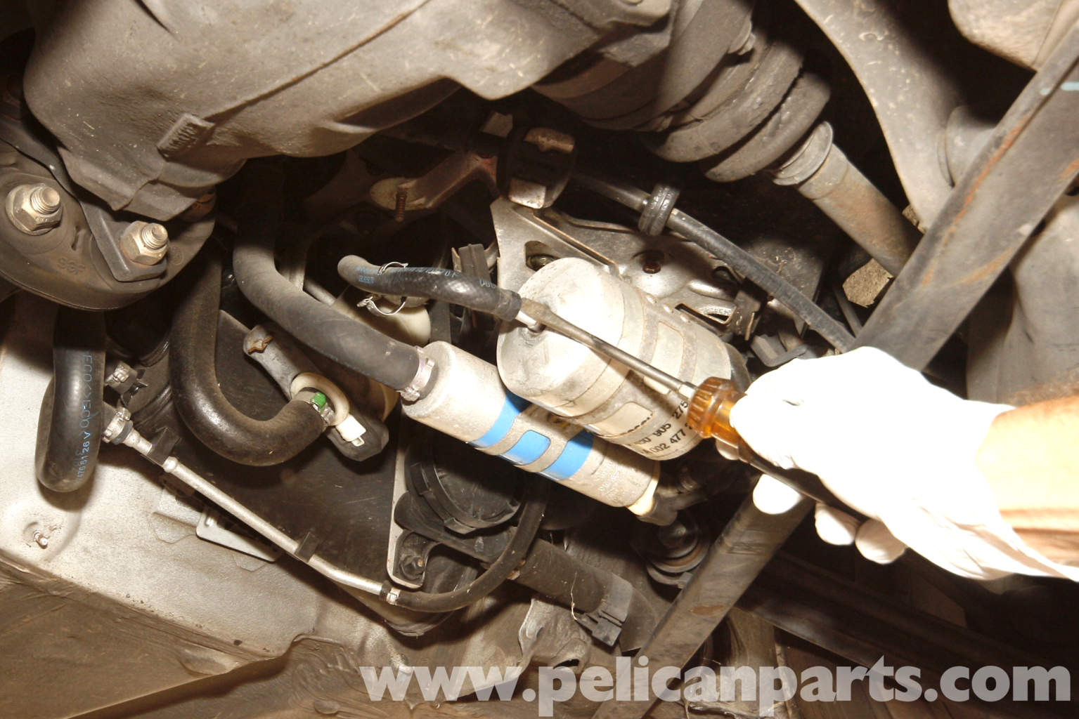 09 FUEL Fuel Filter Replacement on fiat 500 fuel pump