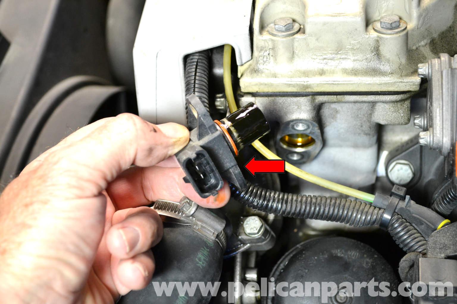 W211 Camshaft Position Sensor >> Mercedes-Benz SLK 230 Camshaft Positioning Sensor Replacement | 1998-2004 | Pelican Parts DIY ...