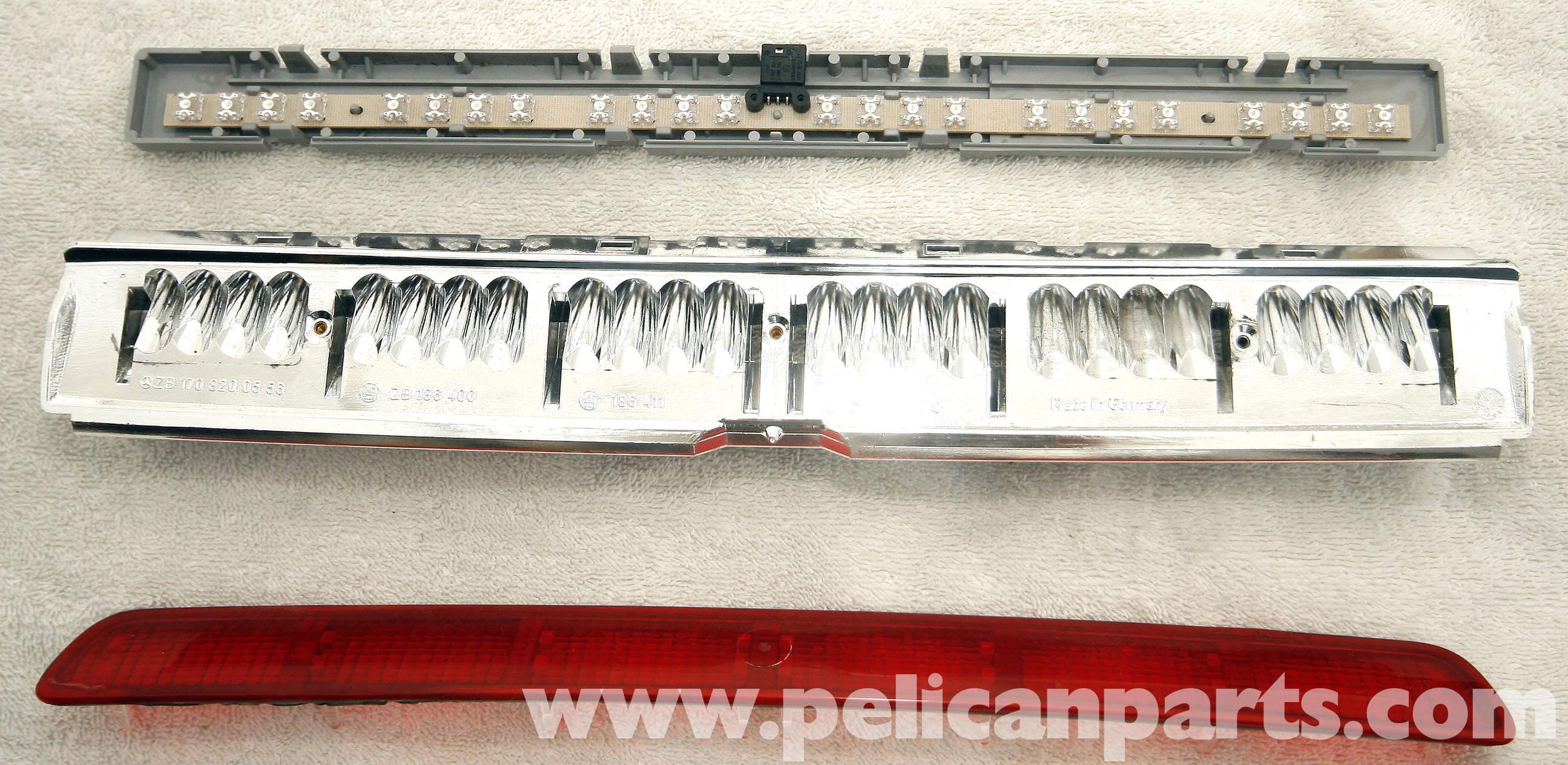 Mercedes benz slk 230 third brake light replacement 1998 for Mercedes benz brake wear warning light
