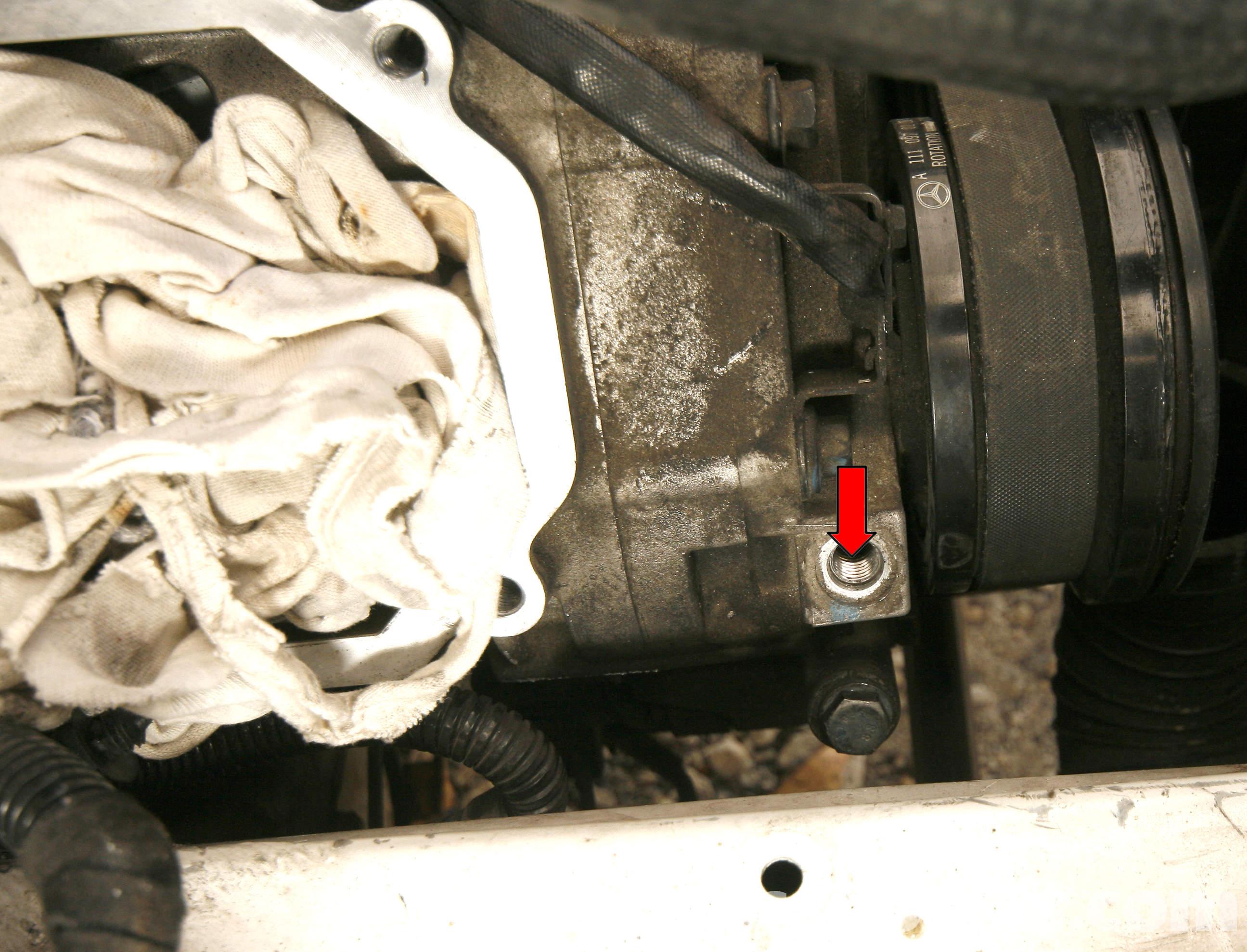 Mercedes benz slk 230 supercharger oil change 1998 2004 for Oil change for mercedes benz