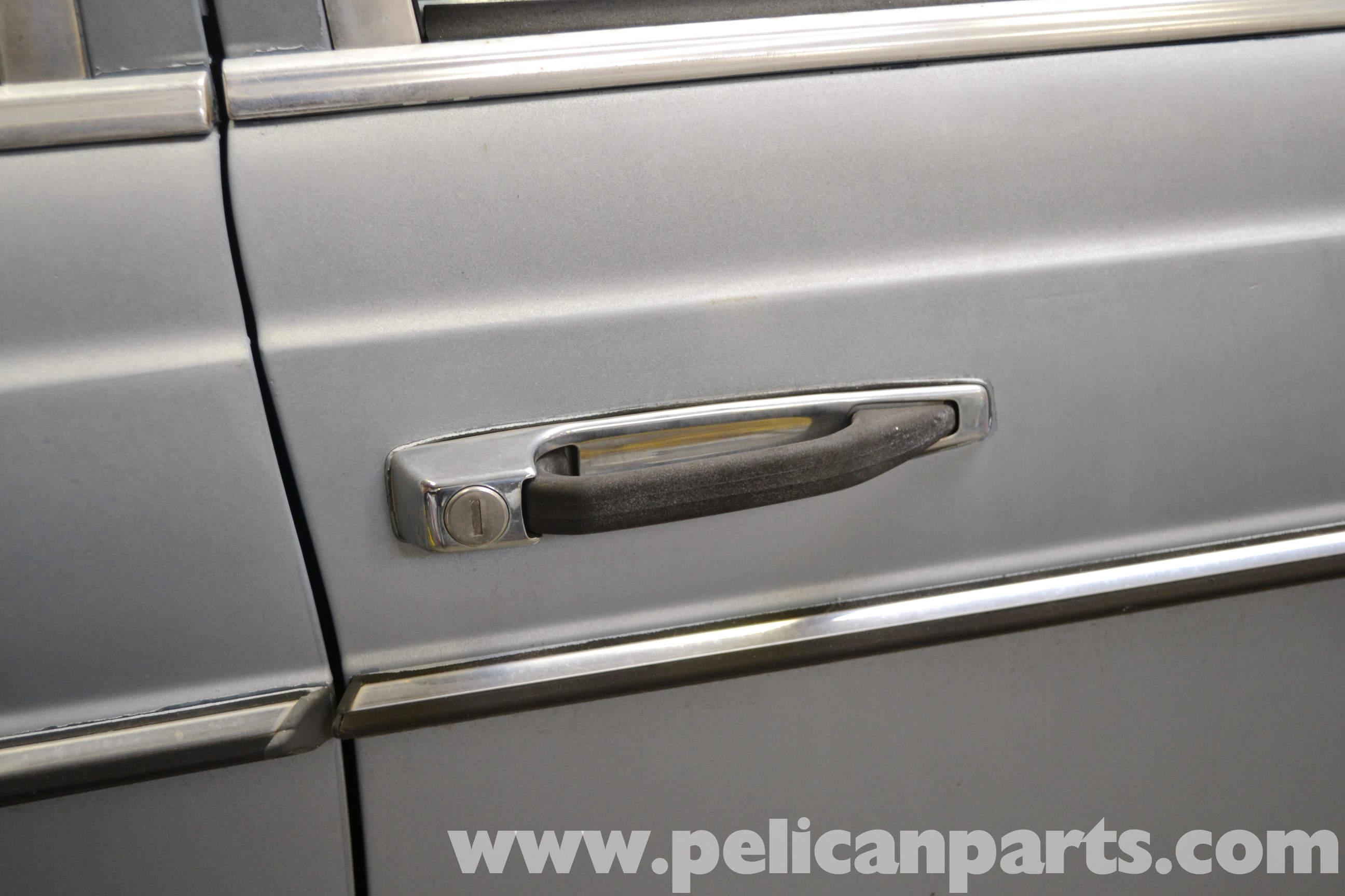 Pelican Technical Article Mercedes Benz W123 Exterior Door Handle Removal