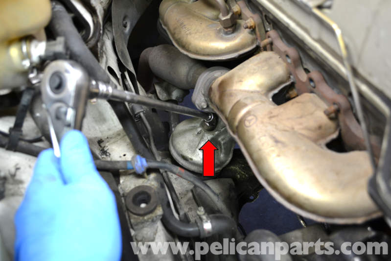 Is much easier to remove if you first remove the air filter and box