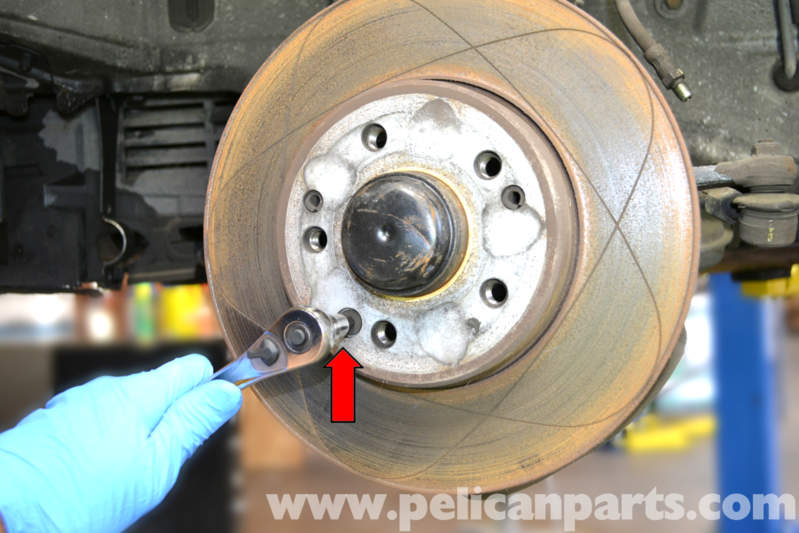 Service manual remove front rotor 1988 mercedes benz e for Mercedes benz e350 brake pads replacement