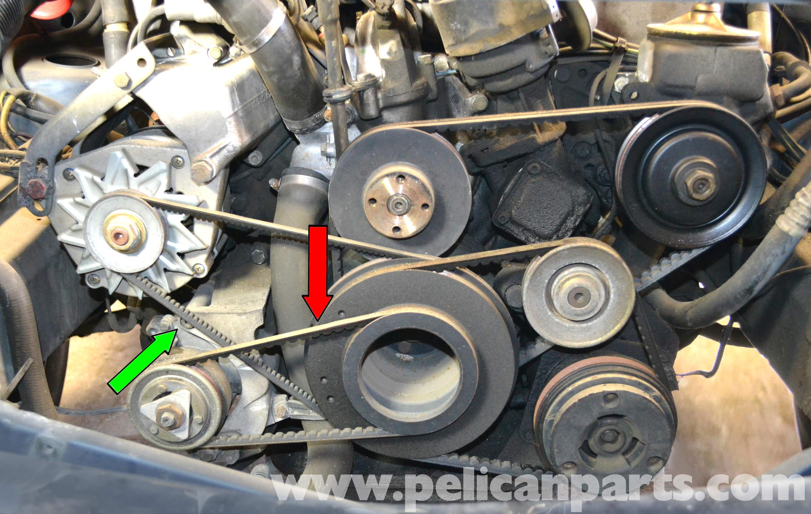 1987 mercedes 300d alternator wiring diagram    mercedes    benz w126 air pump belt replacement 1981 1991 s     mercedes    benz w126 air pump belt replacement 1981 1991 s