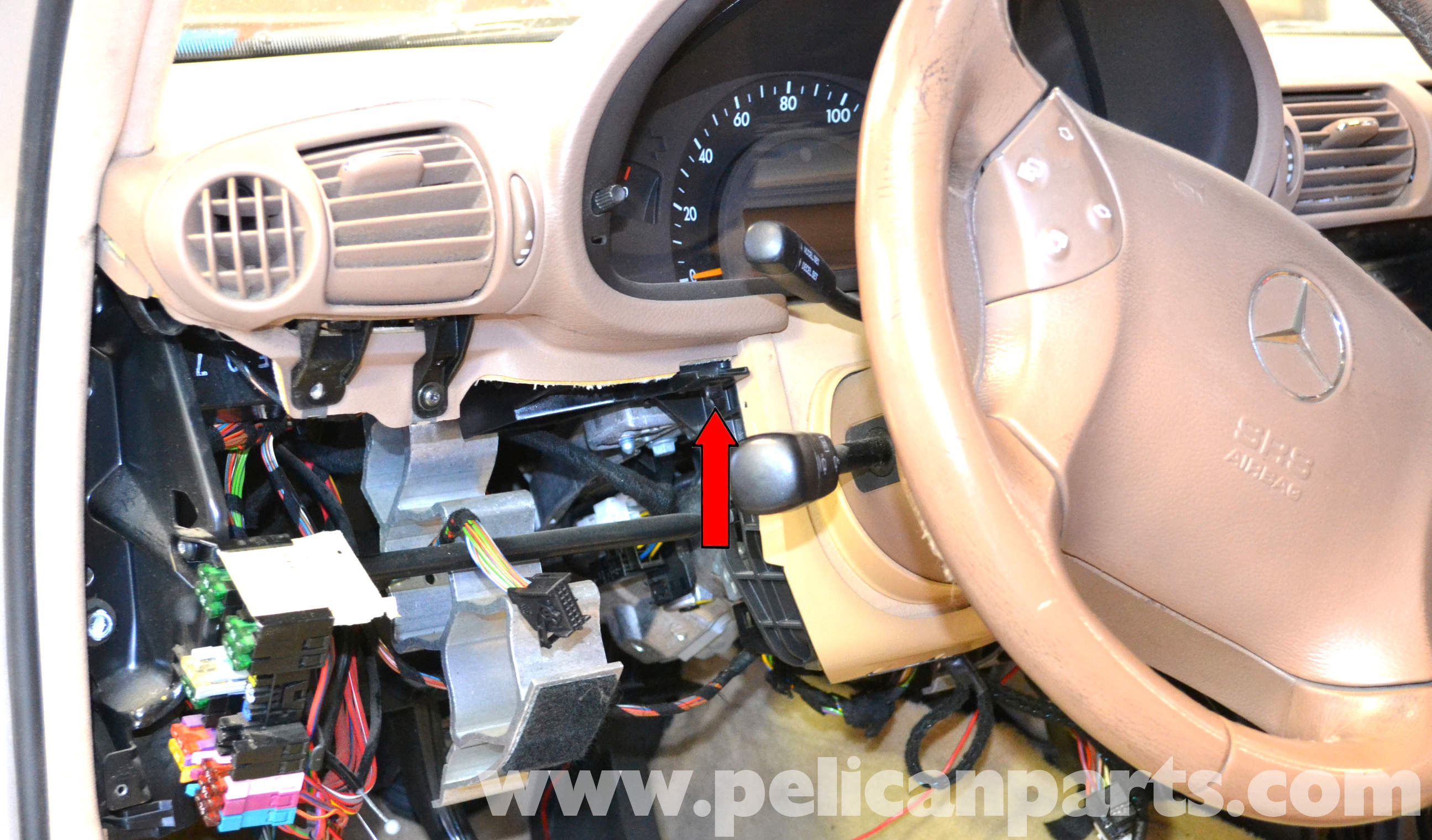 Mercedes Benz W203 Lower Driver Side Dash Removal 2001