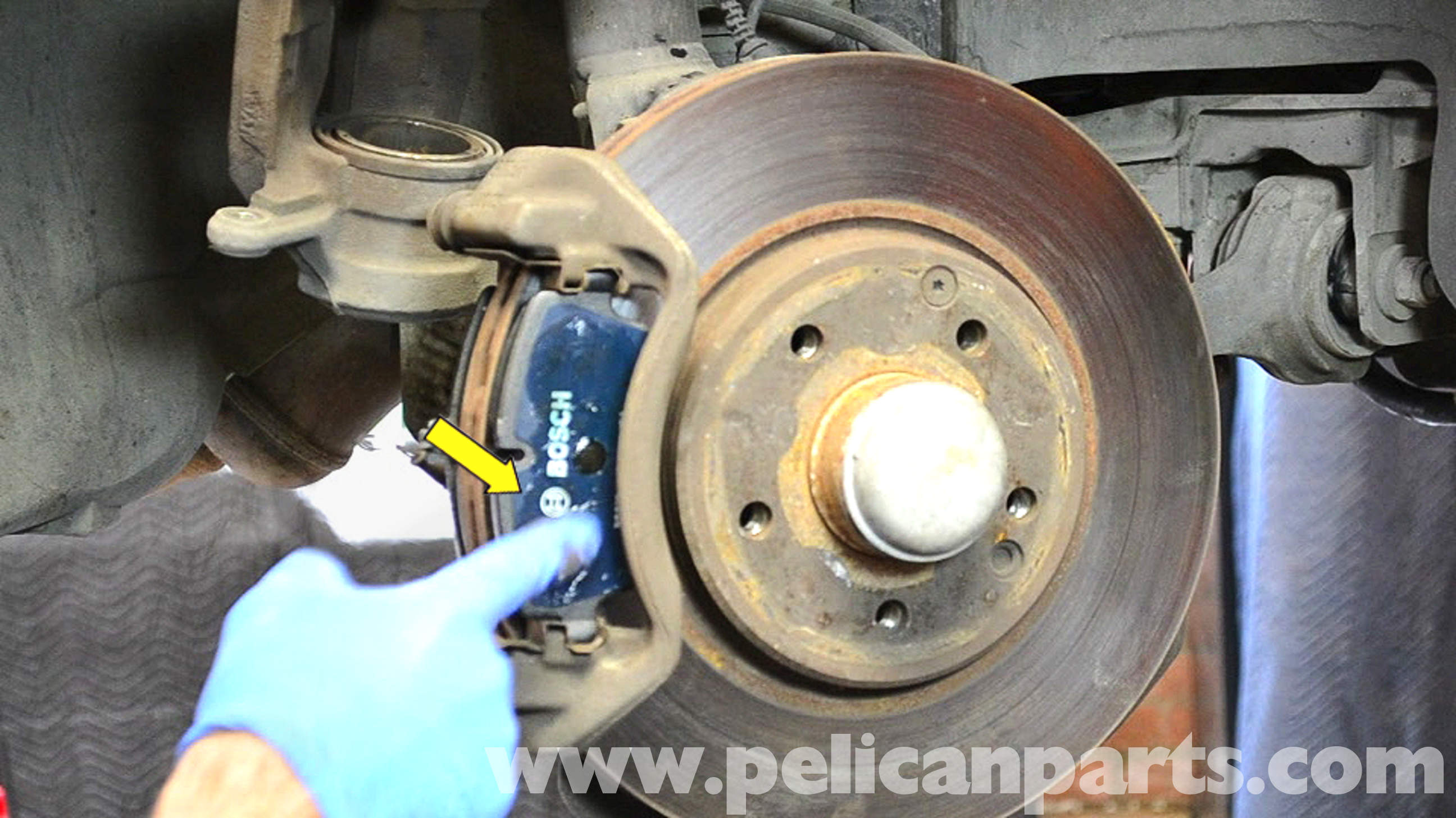 Mercedes benz w203 front brake pad replacement 2001 for Mercedes benz rotors replacement