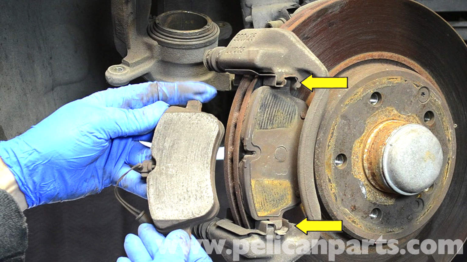 Mercedes benz w203 front brake pad replacement 2001 for Mercedes benz brake calipers