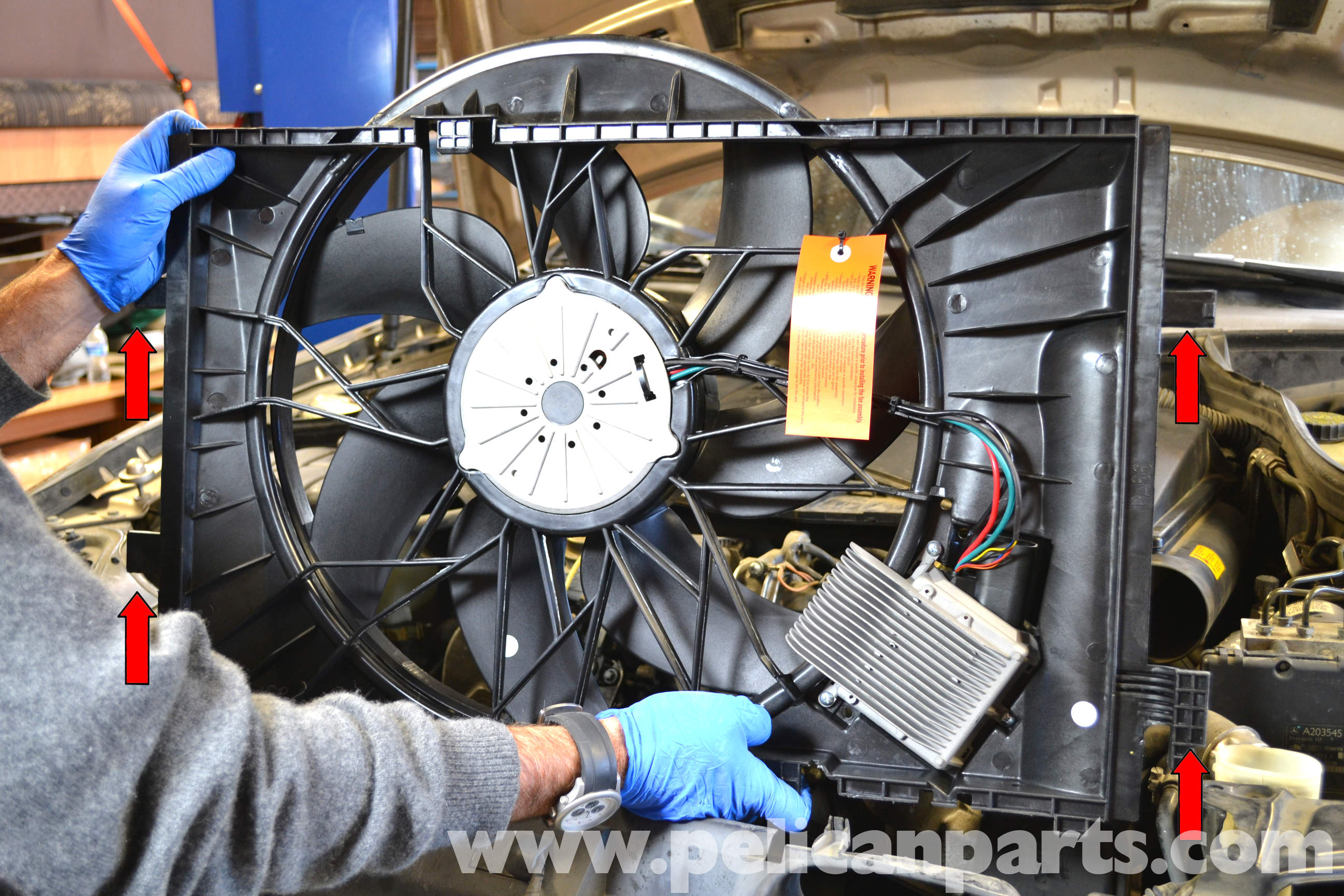 Mercedes Benz W203 Electric Fan Replacement 2001 2007