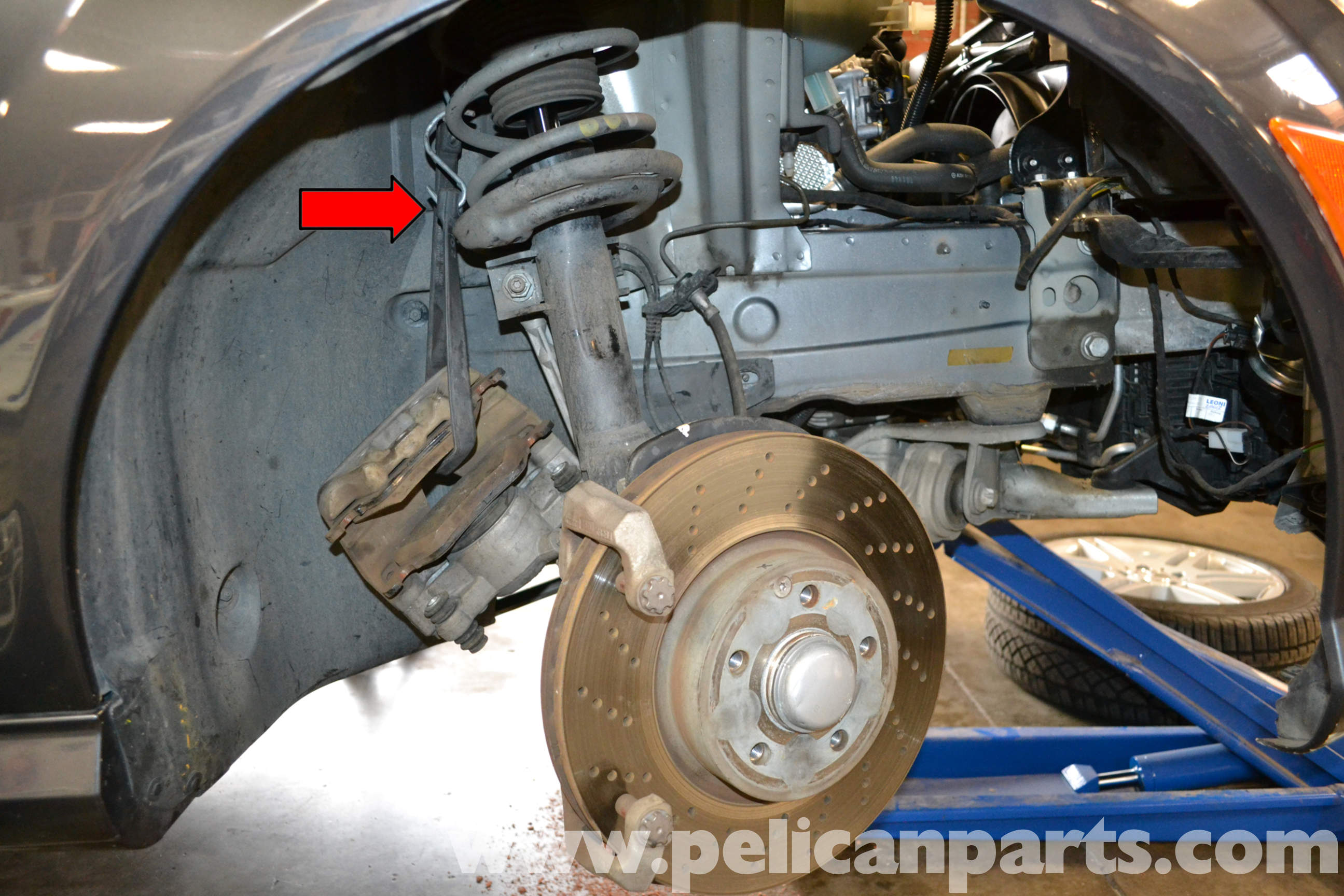 Pelican technical article mercedes benz w204 front for Mercedes benz rotors replacement