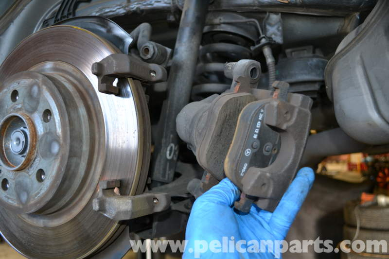 Pelican technical article mercedes benz w204 rear for Brake pads mercedes benz