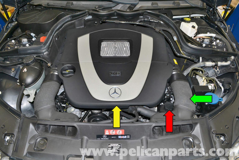 Pelican technical article mercedes benz w204 power for Mercedes benz ml320 power steering fluid
