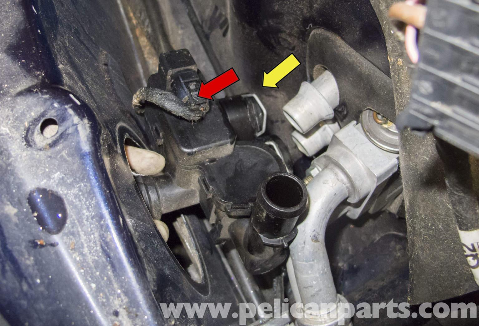 mercedes benz  heater valve replacement      pelican parts diy