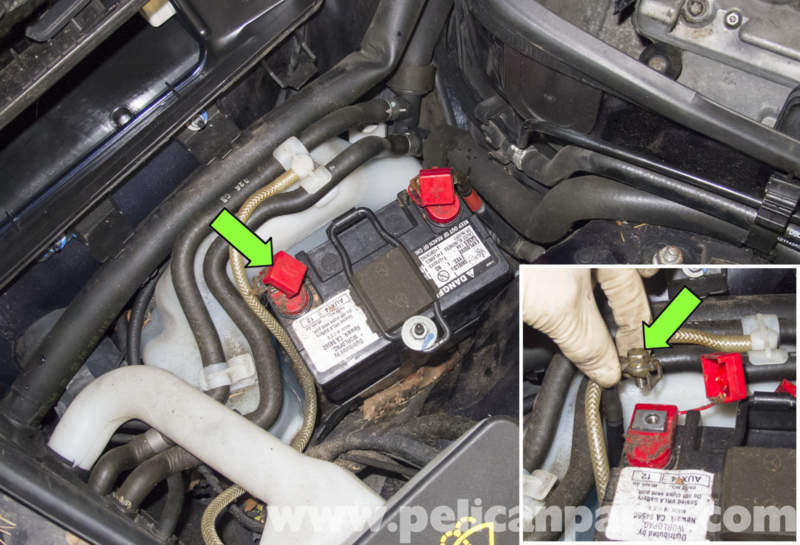 e500 mercedes battery location