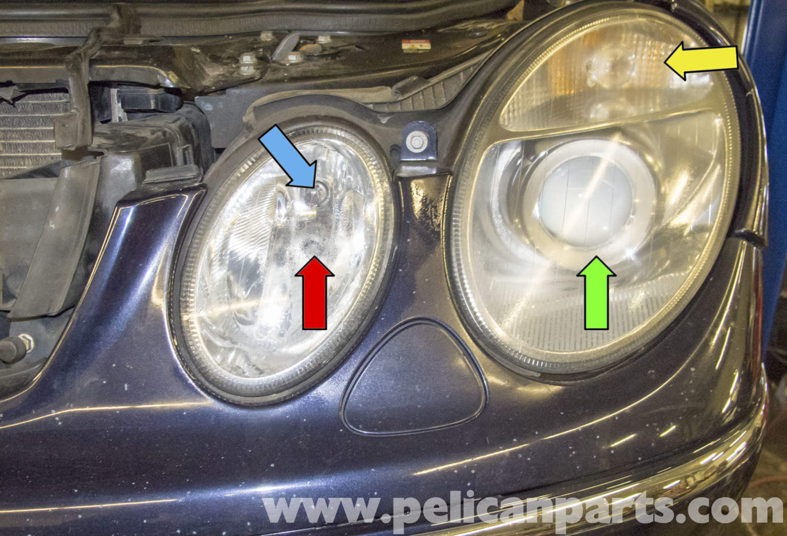 mercedes benz w211 headlight replacement 2003 2009 e320
