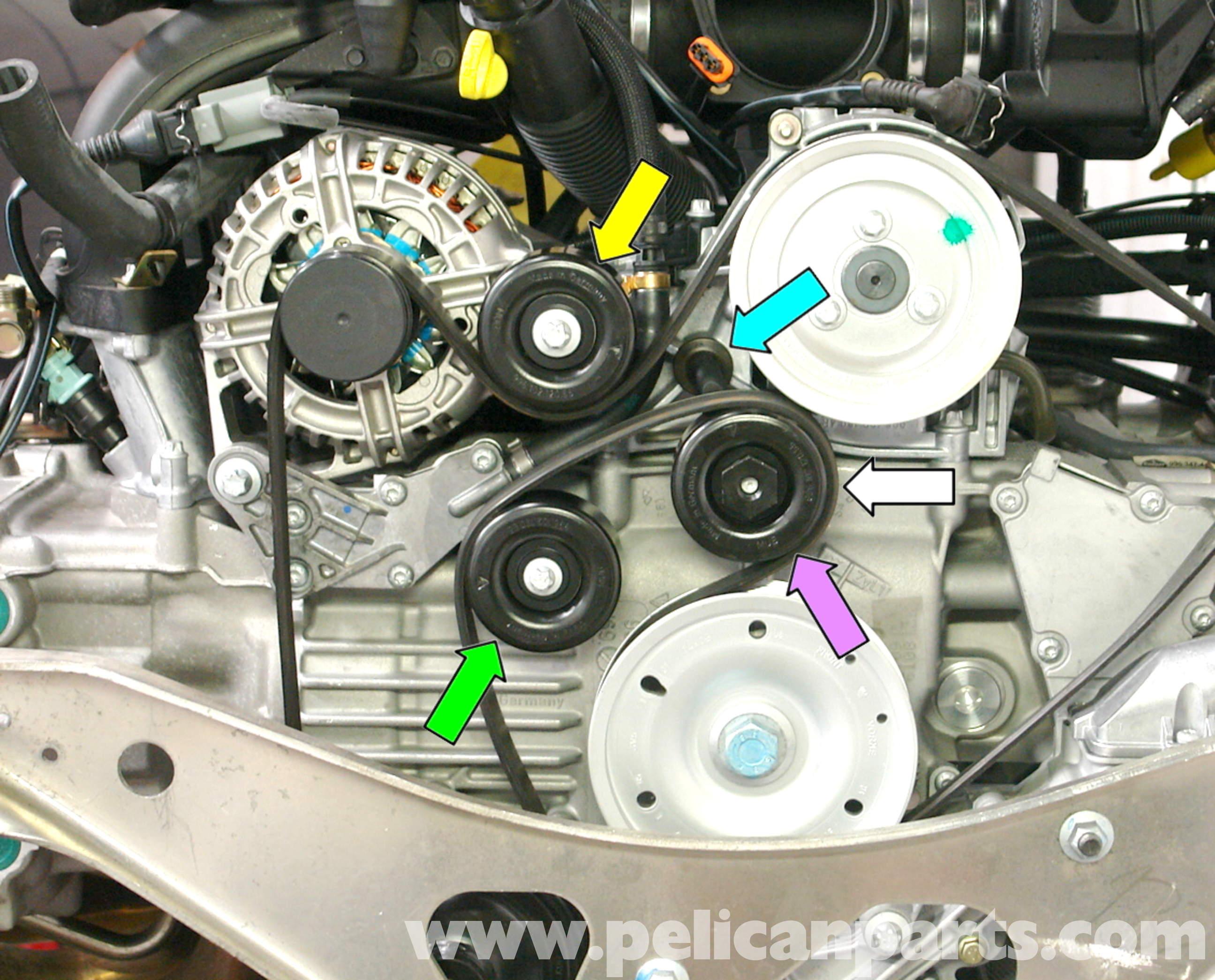 Porsche 911 Carrera Belt Tensioner Replacement 996 1998