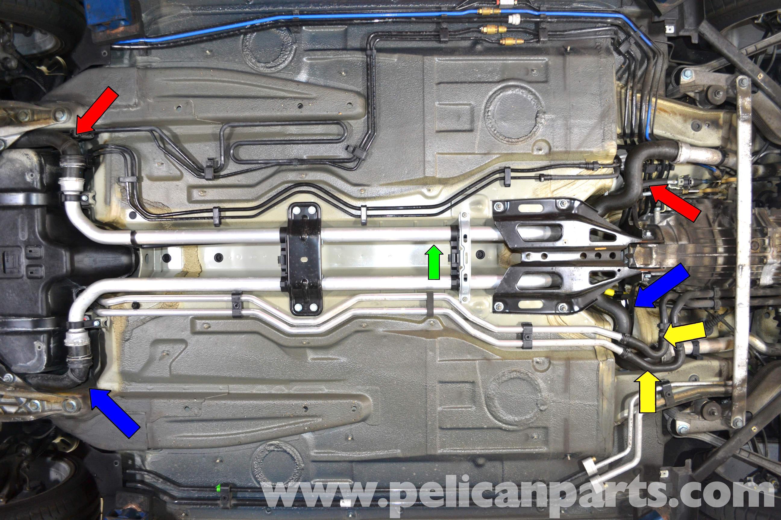 Porsche 911 Carrera Coolant Hose Replacement 996 1998 2005 997 2005 2012 Pelican Parts