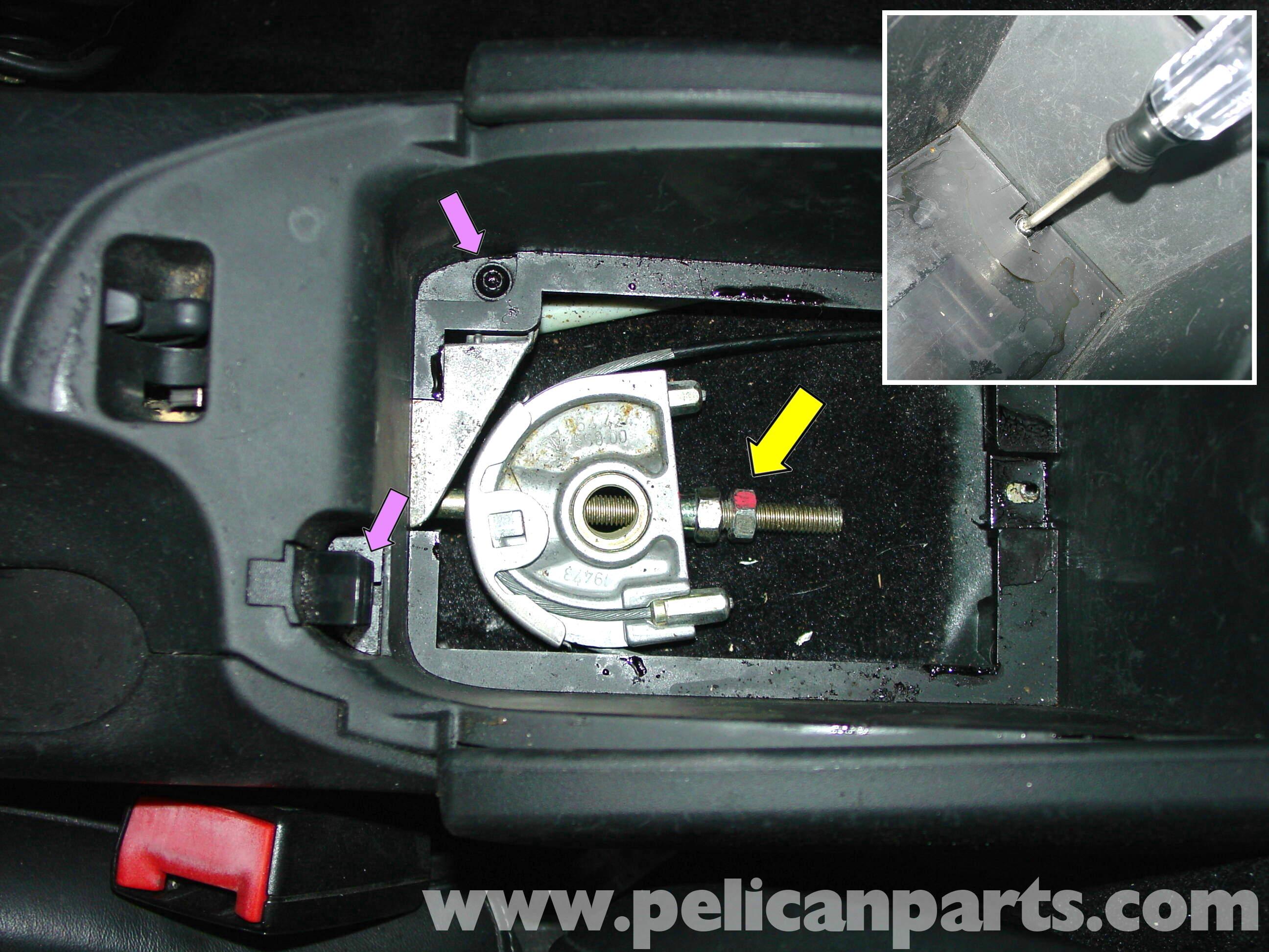 Porsche 911 carrera parking brake adjustment 996 1998 for 1999 porsche boxster window regulator