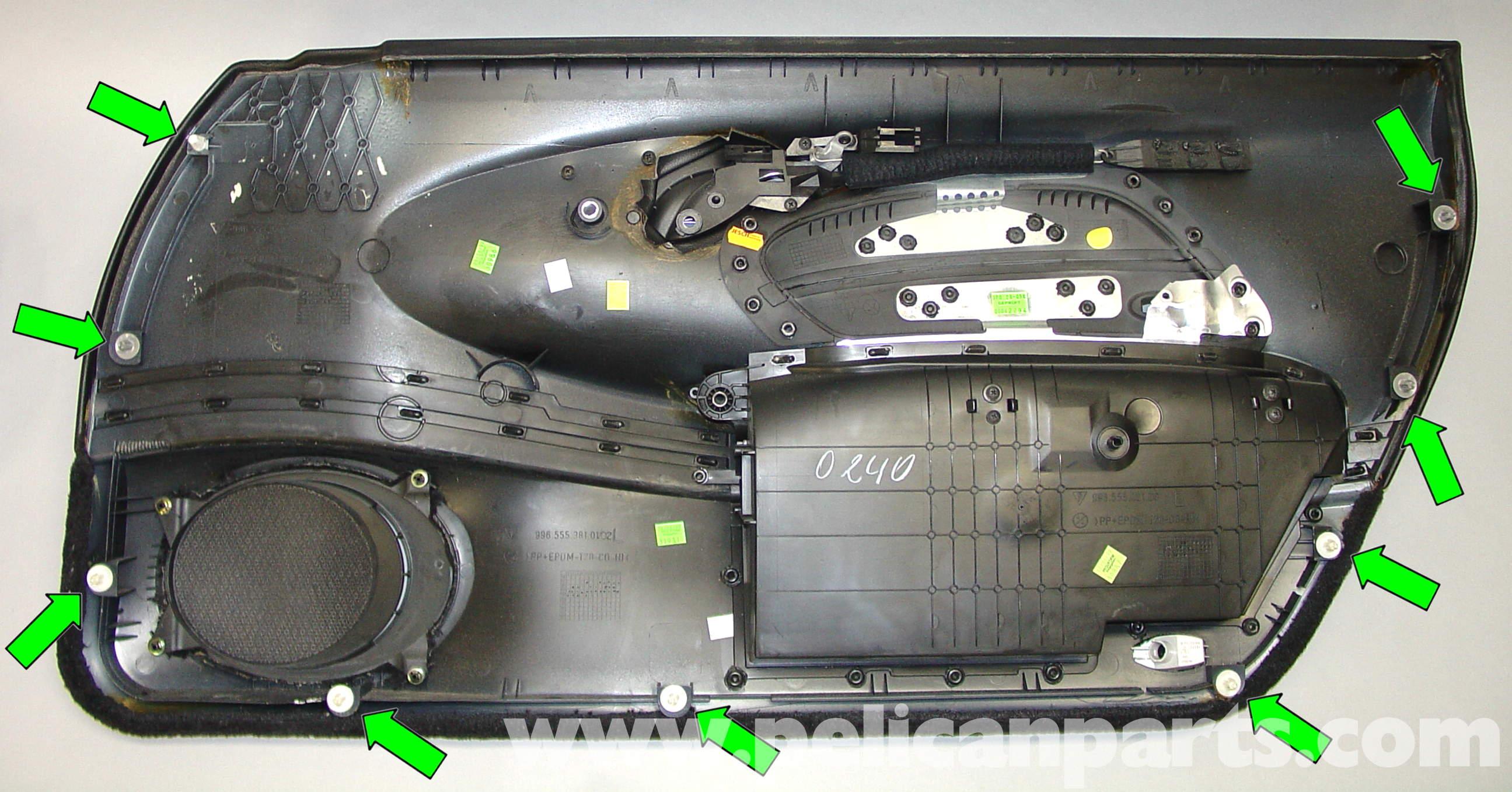 Porsche 911 Carrera Door Panel Removal 996 1998 2005