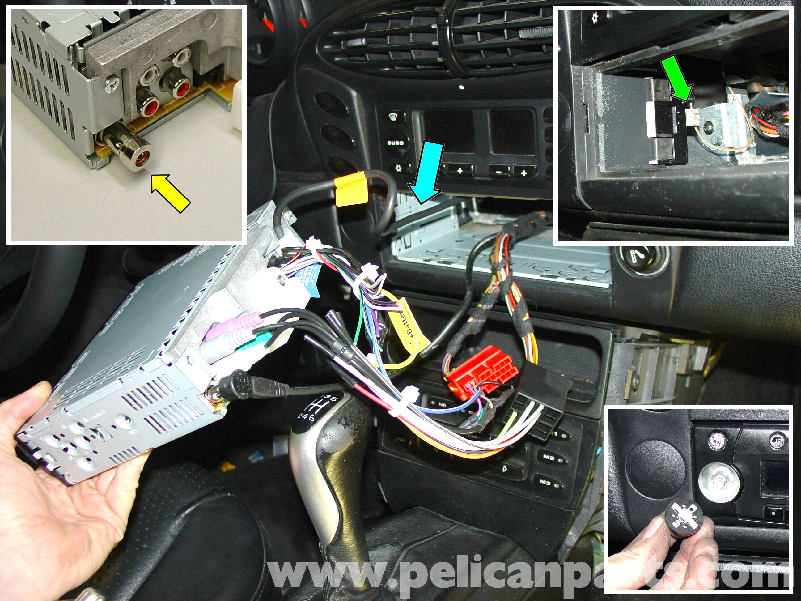porsche 911 carrera radio head unit installation 996  1998 2005  997  2005 2012  pelican 2007 cadillac cts radio wiring diagram cadillac cts radio wiring diagram