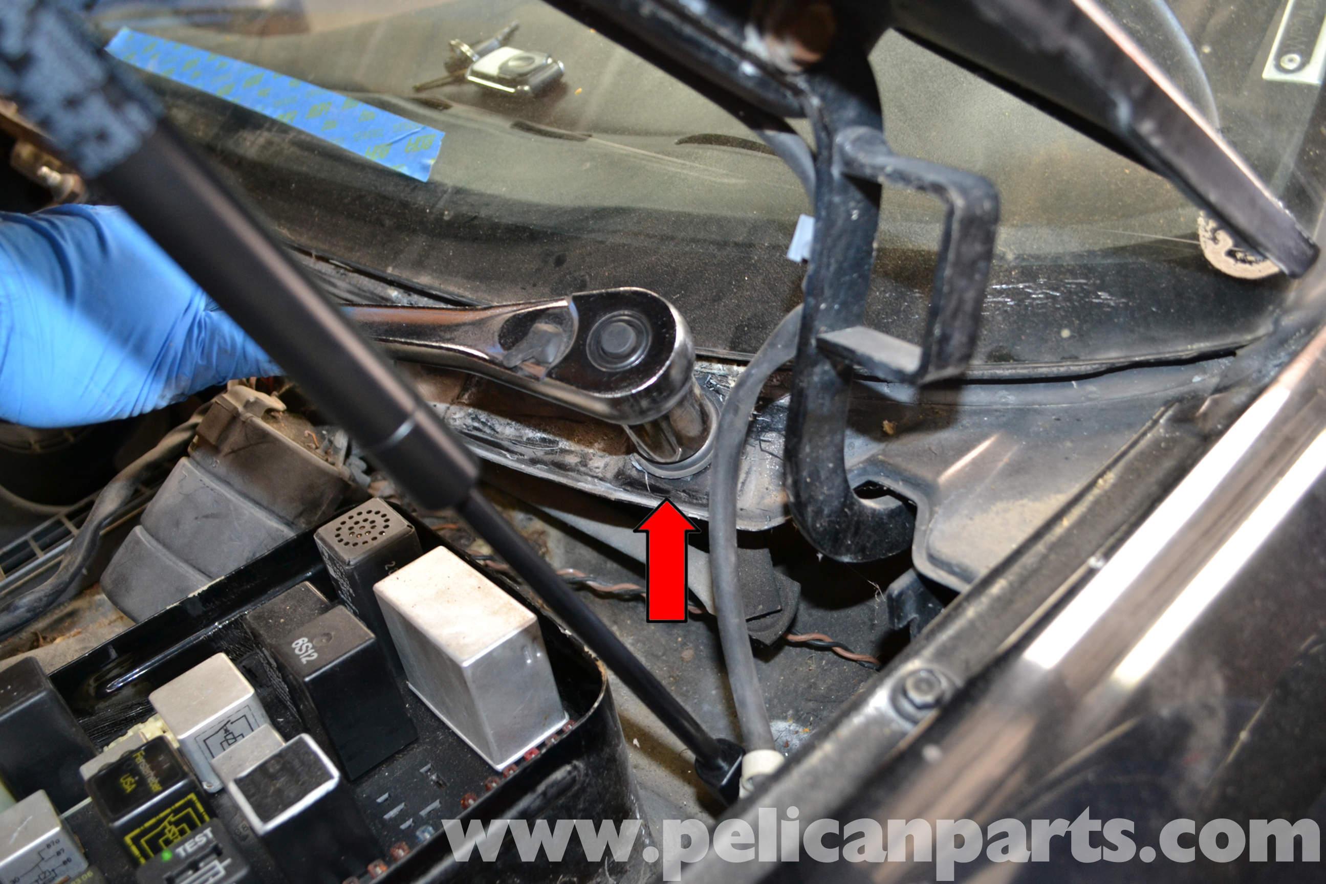 Pelican technical article porsche 944 turbo windshield for Windshield wiper motor parts