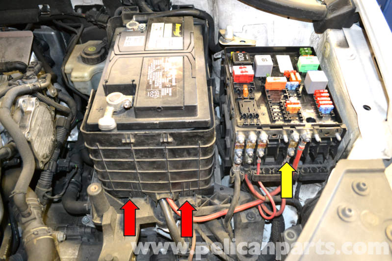 Volkswagen Golf Gti Mk V Battery Replacement And Connection Notes  2006-2009