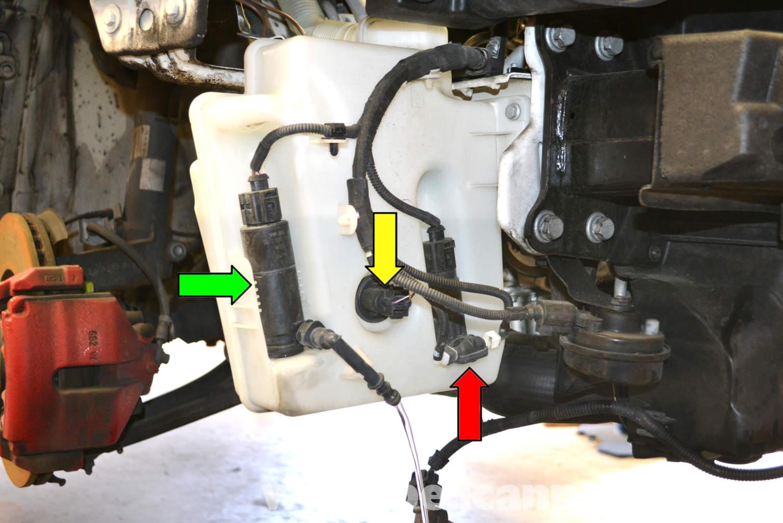 Volkswagen Golf Gti Mk V Windshield Washer Reservoir Pump And Level Sensor 2006 2009