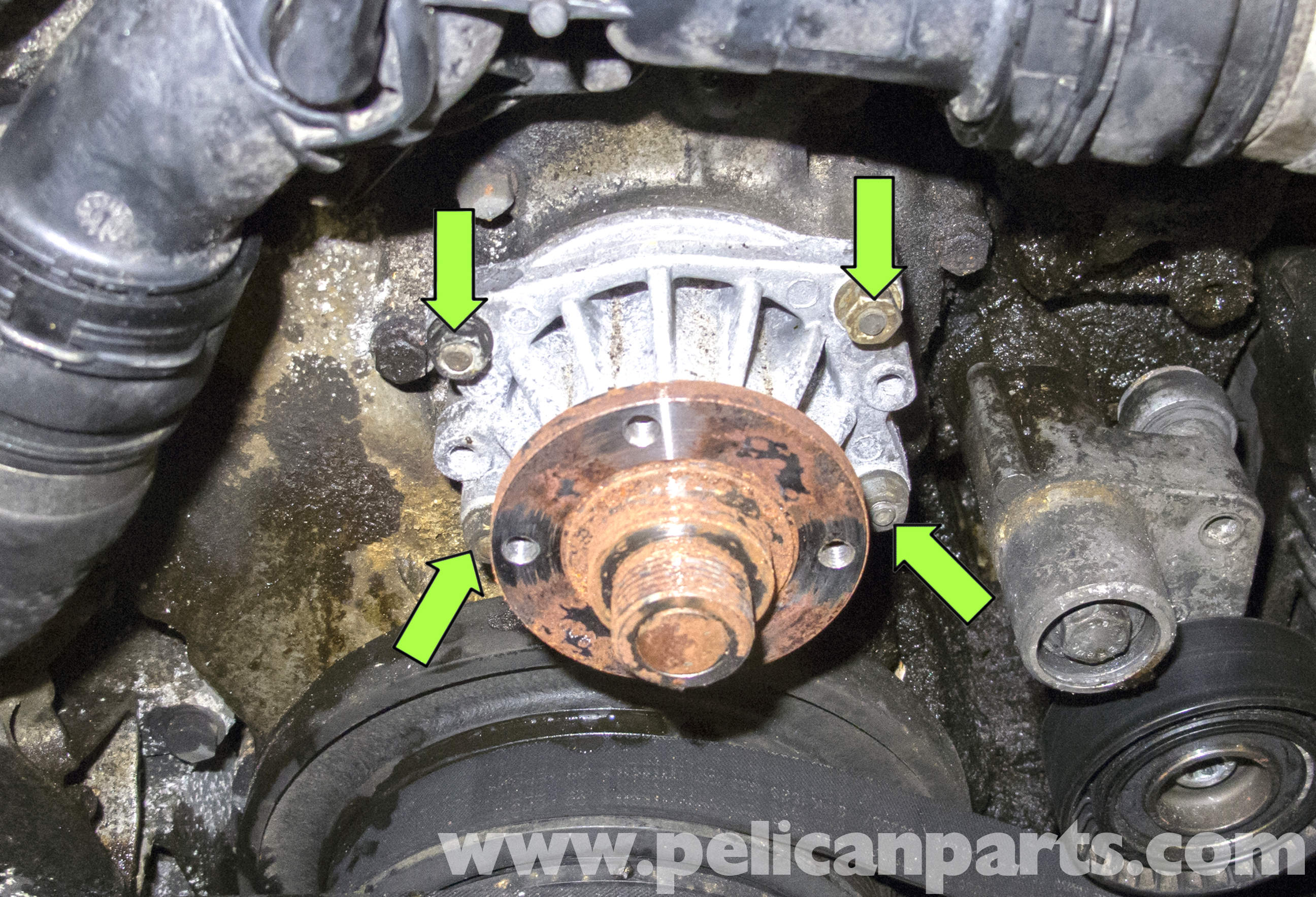 Bmw E60 5 Series Water Pump Replacement M54 6 Cylinder